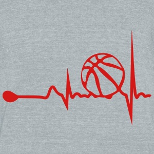 basketball heart tracing 1 T-Shirts - Unisex Tri-Blend T-Shirt by American Apparel