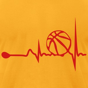 basketball heart tracing 1 T-Shirts - Men's T-Shirt by American Apparel