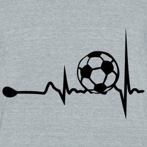 heart tracing soccer 1 T-Shirts - Unisex Tri-Blend T-Shirt by American Apparel