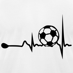 heart tracing soccer 1 T-Shirts - Men's T-Shirt by American Apparel