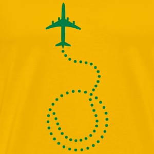 tennis plane dotted trail T-Shirts - Men's Premium T-Shirt