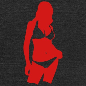 girl sexy swimsuit 1 T-Shirts - Unisex Tri-Blend T-Shirt by American Apparel