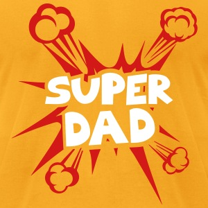 super dad explosion 40222 T-Shirts - Men's T-Shirt by American Apparel