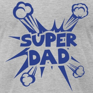 super dad explosion 4022 T-Shirts - Men's T-Shirt by American Apparel