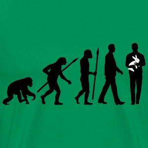 evolution_of_man_kaninchenzuechter02_2c T-Shirts - Men's Premium T-Shirt