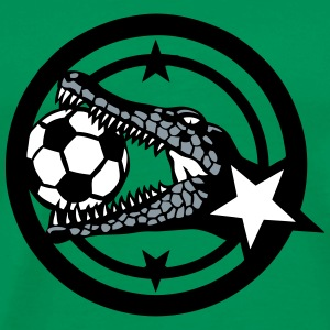 crocodile soccer club logo 402 T-Shirts - Men's Premium T-Shirt