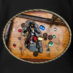 Pirate treasure map - Short Sleeve Baby Bodysuit