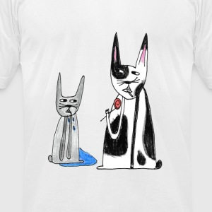 Two rabbits.png T-Shirts - Men's T-Shirt by American Apparel