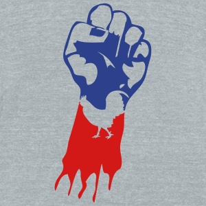 french flag fist cock 1 T-Shirts - Unisex Tri-Blend T-Shirt by American Apparel