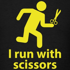 I run with scissors - Men's T-Shirt