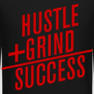 HUSTLE+GRIND=SUCCESS Long Sleeve Shirts - Crewneck Sweatshirt