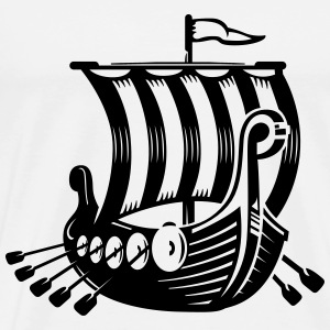 Viking boat - Men's Premium T-Shirt