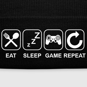 Eat Sleep Game Repeat Sportswear - Knit Cap with Cuff Print