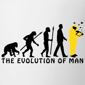 evolution_of_man_beekeeper_2c Mugs & Drinkware - Coffee/Tea Mug