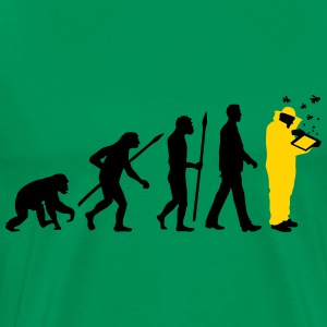evolution of man beekeeper T-Shirts - Men's Premium T-Shirt