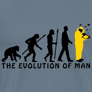 evolution_of_man_beekeeper_2c T-Shirts - Men's Premium T-Shirt