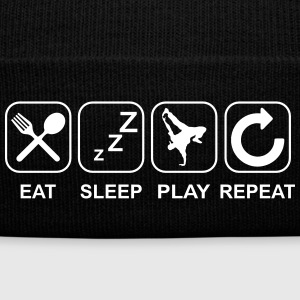 Eat Sleep Hip Hop Repeat Sportswear - Knit Cap with Cuff Print
