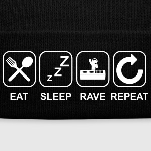 Eat Sleep Rave Repeat Sportswear - Knit Cap with Cuff Print