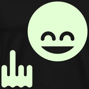 Show The Single Finger Emoticon (Fuck Off / You) T-Shirts - Men's Premium T-Shirt