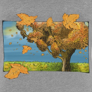 Tree in autumn - Women's Premium T-Shirt
