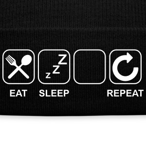 Eat Sleep...(Put your picture and text) Sportswear - Knit Cap with Cuff Print