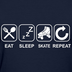 Eat Sleep Skate Repeat Women's T-Shirts - Women's T-Shirt