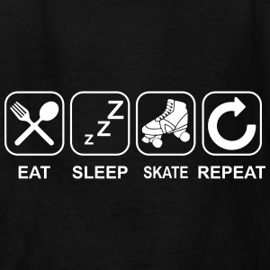 Eat Sleep Skate Repeat Kids' Shirts - Kids' T-Shirt