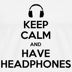 keep calm headphones T-Shirts - Men's Premium T-Shirt