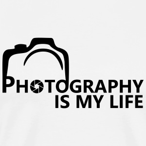 photography is my life T-Shirts - Men's Premium T-Shirt