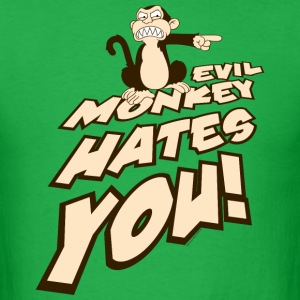 Family Guy Evil Monkey Hates You! - Men's T-Shirt