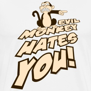 Family Guy Evil Monkey Hates You! - Men's Premium T-Shirt