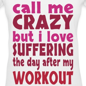 day after workout Women's T-Shirts - Women's V-Neck T-Shirt