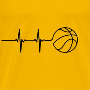 Basketball-Heart-Signal T-Shirts - Men's Premium T-Shirt