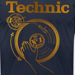 gold turntable T-Shirts - Men's T-Shirt by American Apparel