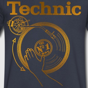 gold turntable T-Shirts - Men's V-Neck T-Shirt by Canvas