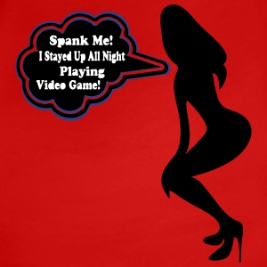 ♥ټSpank me, I Played Video Game All Night Teeټ - Women's Premium T-Shirt