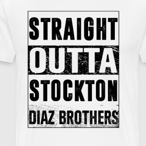 straight outta stockton T-Shirts - Men's Premium T-Shirt