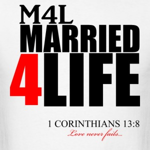 M4L: Married 4 Life (Red) - Men's T-Shirt