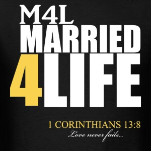 M4L: Married 4 Life (Gold) - Men's T-Shirt