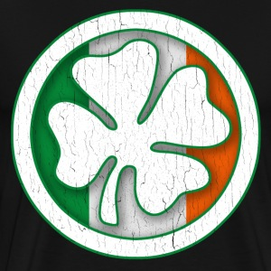 Irish Flag Shamrock Circle - Men's Premium T-Shirt