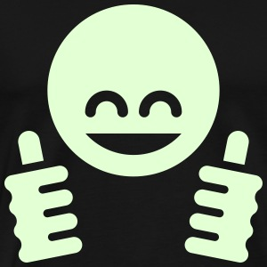 Thumb Up Emoticon Smiley T-Shirts - Men's Premium T-Shirt