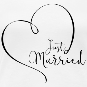 Just Married Tshirt - Women's Premium T-Shirt