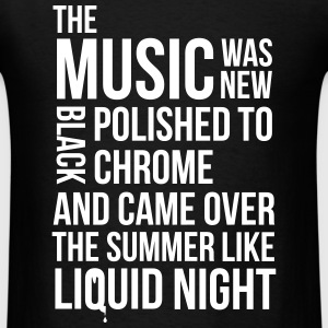music black polished chrome techno acid DJ club  T-Shirts - Men's T-Shirt