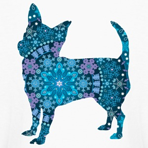 Chihuahua, Blue Bohemian Snowflake Design - Kids' Long Sleeve T-Shirt