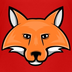 fox head mascot Kids' Shirts