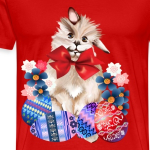 EASTER BUNNY-EGGS n' FLOWERS - Men's Premium T-Shirt