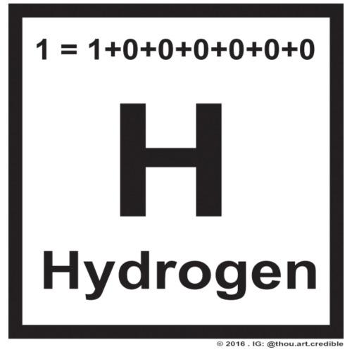 hydrogen in black