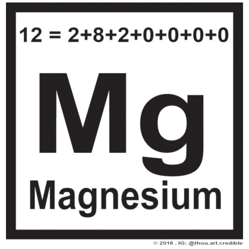 magnesium in black