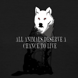 All animals deserve a  chance to live - Women's T-Shirt