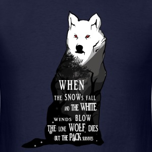 White Wolf Illustration - Men's T-Shirt